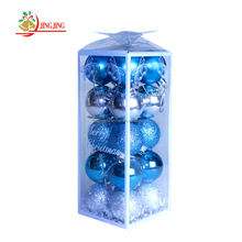 Colored Shatterproof Tree Hang Balls, Clear Plastic Christmas Ball Ornament