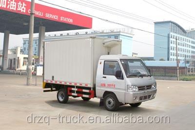 Dongfeng mini refrigerator truck size of pay cube 3000*1480*1500