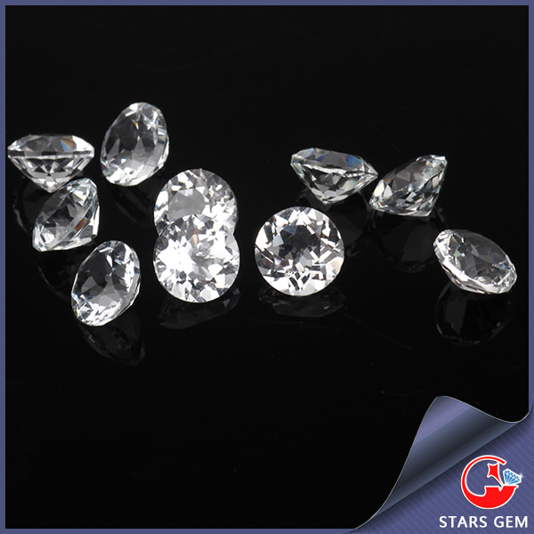high quality clear round white topaz loose natural wholesale gemstone lot