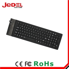 High quality silicone rubber computer keyboards silicon rubber wireless keyboard