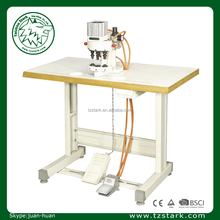 Three heads for jeans fabrics plastic etc automatic pneumatic snap button attaching machine