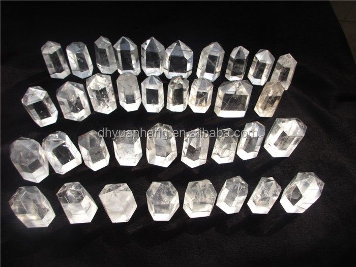Natural clear quartz crystal points carving,rock quartz crystal points for sale