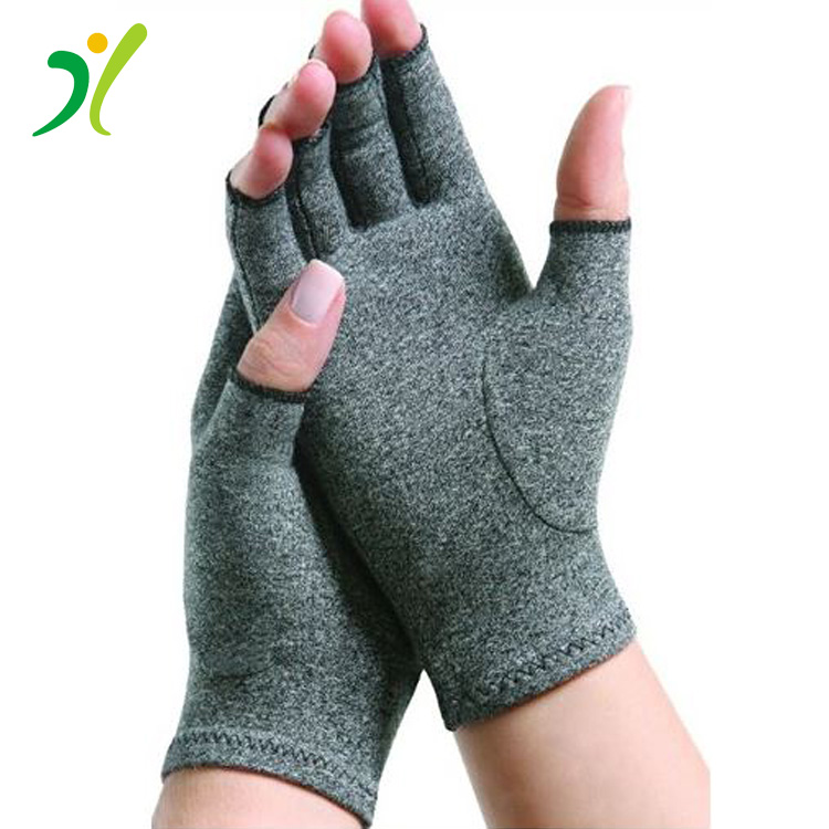 2017 hot selling Compression copper ions anti-bacterial arthritis gloves