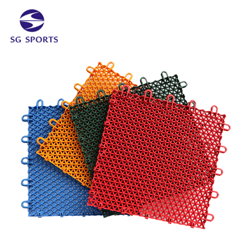 Professional Easy to Install PP Sports Court Interlocking Flooring Tile
