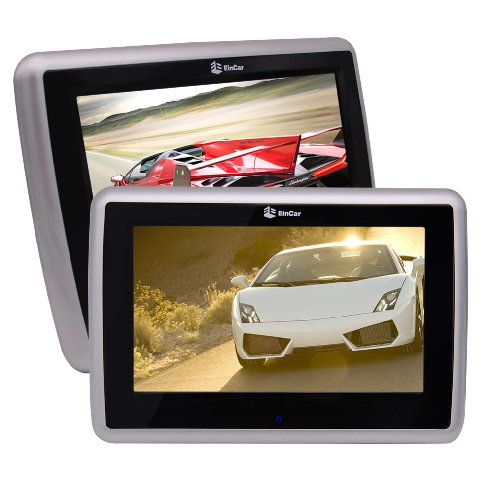 Eincar Twin 9 Inch HD Touch Screen Car DVD Player Headrest Monitor with 1024 x 600 High Resolution Support 1080P Videos