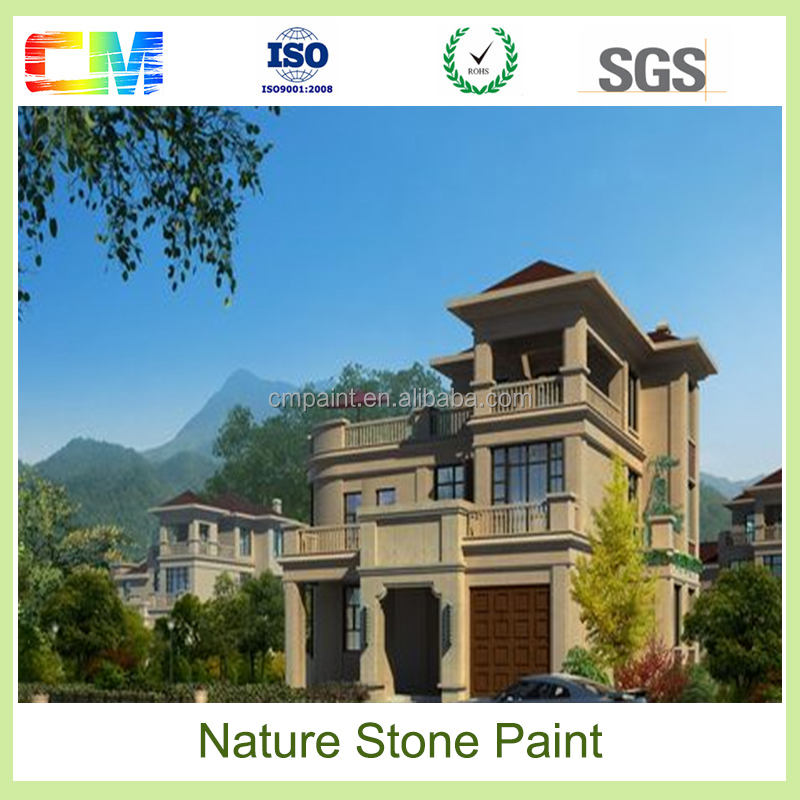 New product high color stability spray paint natural stone paint effect
