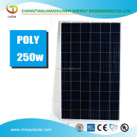 solar panel manufacturer high efficiency 250W photovoltaic A grade poly solar panel