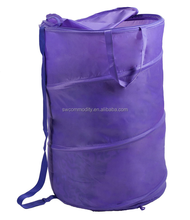 homeosehold foldable laundry hamper/purple collapsible laundry storage basket