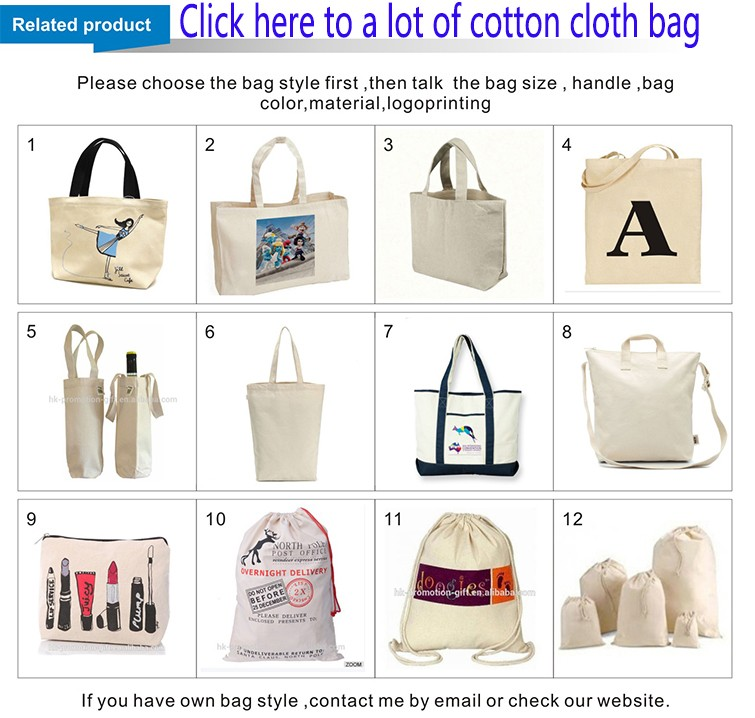 Printed cotton bag for shopping