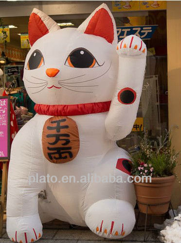 Inflatable lucky cat for advertising
