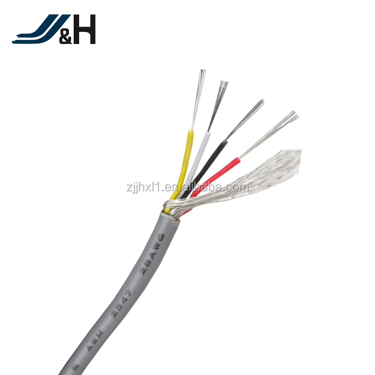 5Core 26AWG UL2517 Shielded Cable Control Cable Command Cable