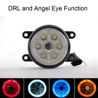 Hot high brightness fog angel eyes lights for cars automatic fog lamps for RENAULT