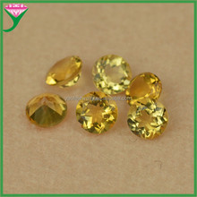 china gemstone factory high quality yellow round brilliant cut natural mystic topaz gemstones