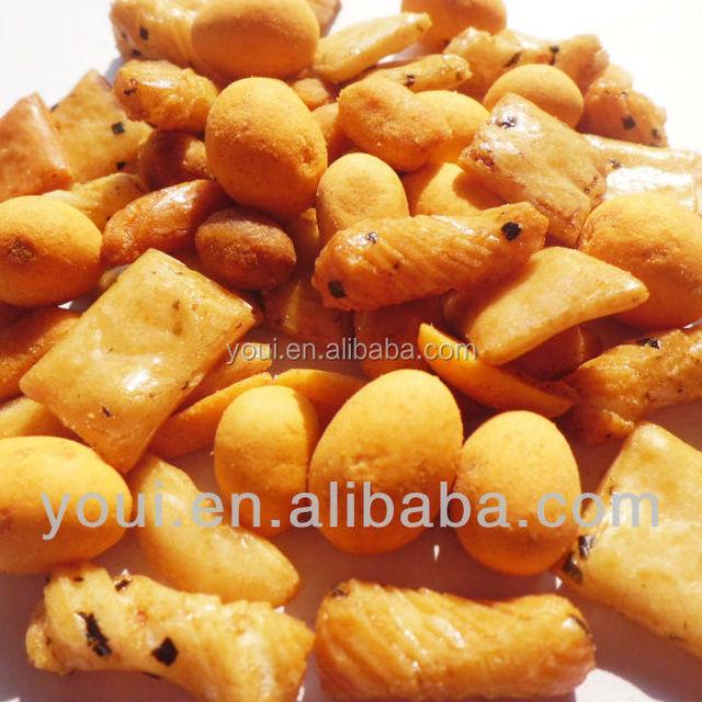 Japanese style rice cracker coated peanuts mix 5a suzhou youi foods