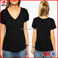2016 Women Custom T Shirt Classic V Neckline Wholesale Clothing Online Shopping China