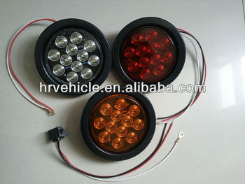 "4"" Round LED Light,Stop/Turn,Tail Lamp forTruck,Trailer and Boat Trailer"