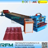 FX roof tiles made of rubber glazed tiles roof rolling machine