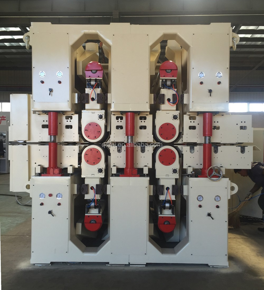 Double side four head wide belt sanding machine for particle board plywood