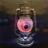 Vintage Battery Operated Handheld Hanging LED Light Up Color Changing Decorations Halloween Eyeball Lights Lamp Lantern