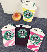 2016 Creative 3D starbucks silicone coffee cup case design for iphone5/5s CO-SIL-433