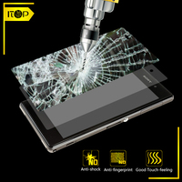 mobile phone accessories 9h hardness 0.33mm curved edge tempered glass screen protector forxperia tablet z