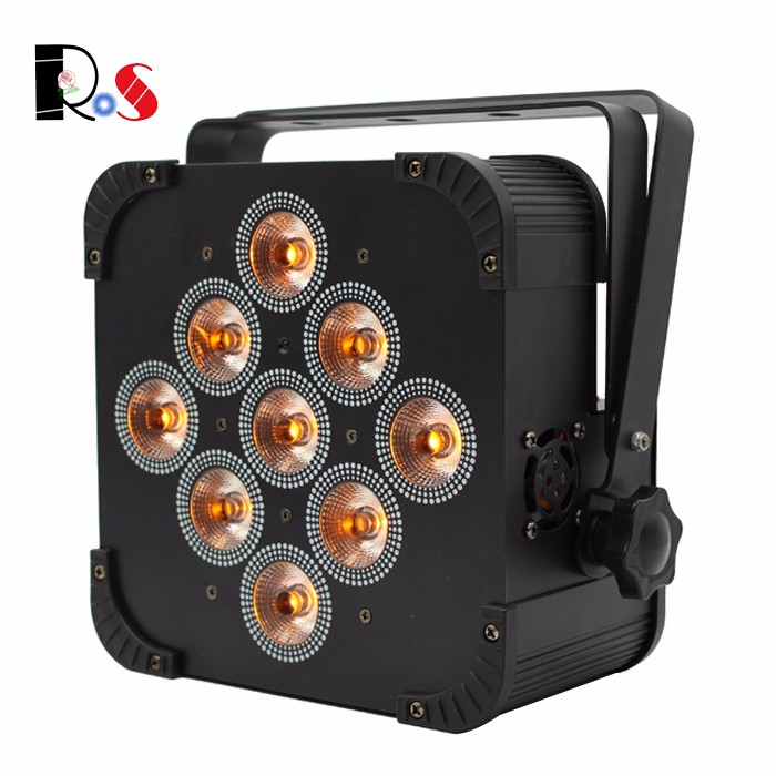 10 lights per case Colorful wireless LED Par light RGBAW+UV 6in1 stage uplight for decoration