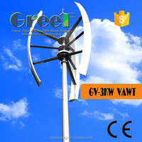 3kw maglev vertical axis wind turbine generator, windmill complete system