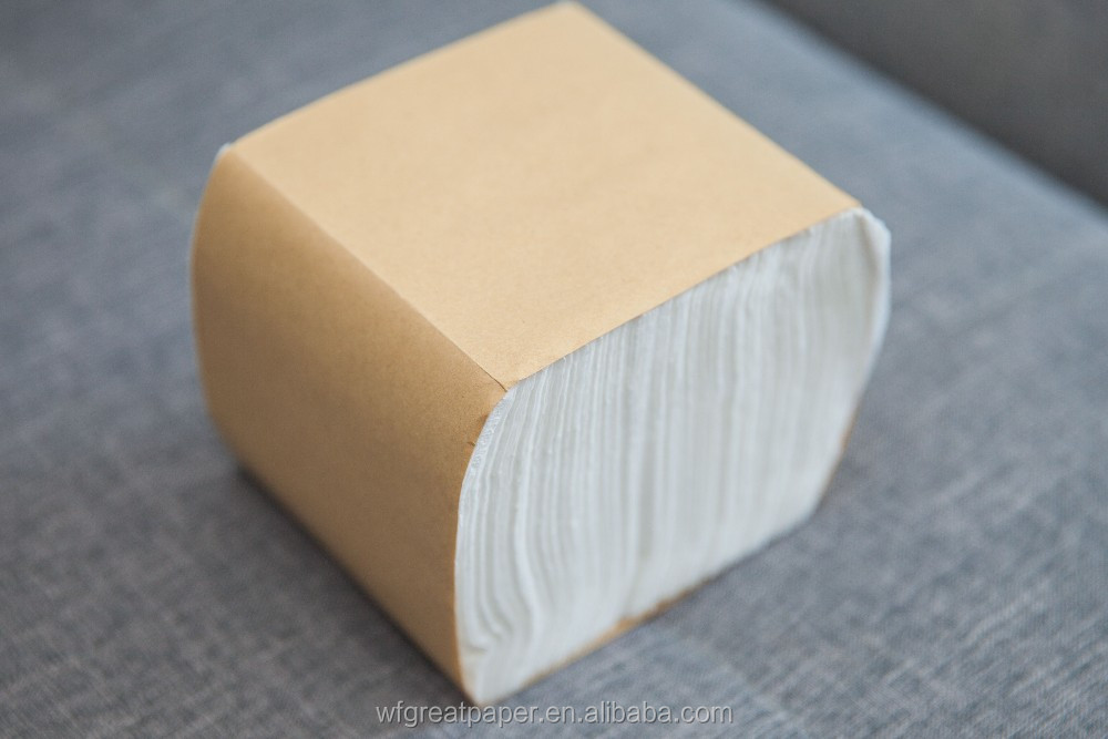 Kraft pack soft tough raw material paper napkin towel tissue