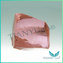 Best price wholesale synthetic nanosital rough morganite pink color