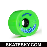 KOSTON PU casting longboard sliding wheels WH042, 76mm wheels in 78a durometer