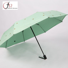 Wholesale market custom logo colourful decorative fold umbrella