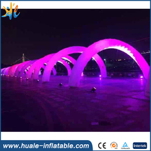 2016 hgh quality LED light advertising inflatable arch for sale
