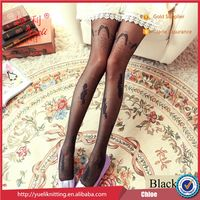 2015 Black silk stockings ultrathin elastic applique lace office stocking