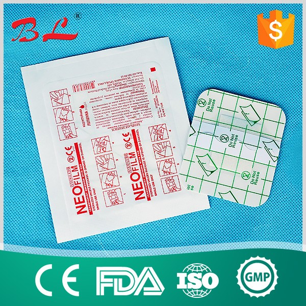 adhesive waterproof transparent wound dressing