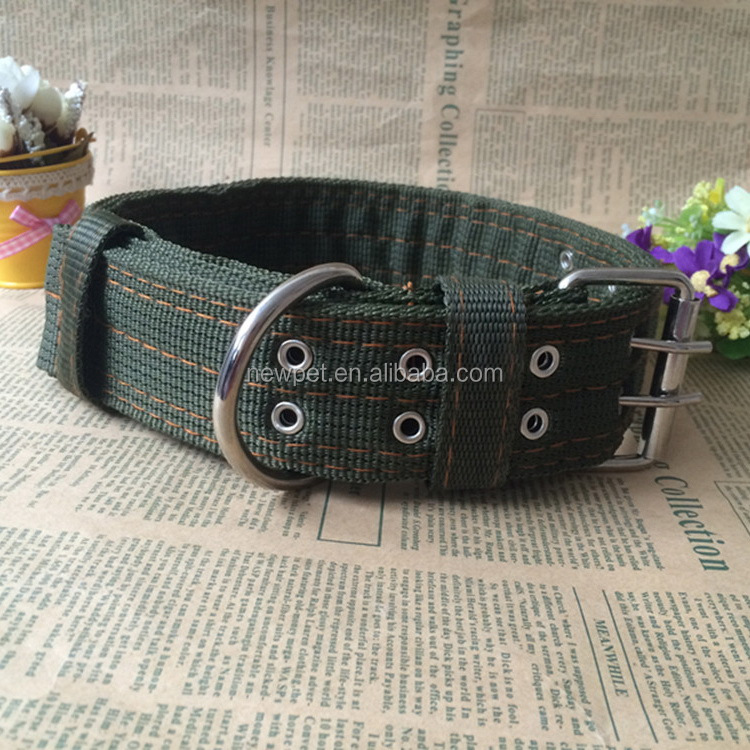China manufactory new fashion army green nylon useful tools flexible dog collar