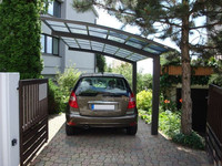 Aluminum carport with Polycarbonate pc sheet/board/plate canopy roof