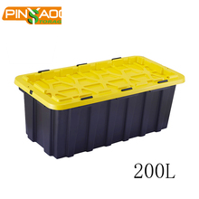 Muti-purpose competitive customized heavy-duty plastic storage box with wheels