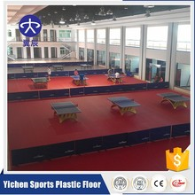 Indoor pvc plastic sports flooring vinyl table tennis floor mat