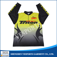 Custom Made Dry Fit Polyester Long Sleeve Dye Sublimation Fishing Shirt