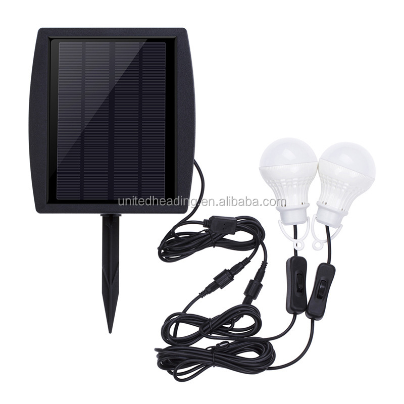 2018 news green tentlamp 10w have hook led double solar street light pluggable lawn bulb