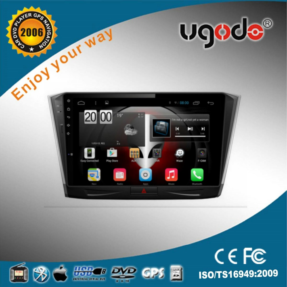 Ugode New 10.1 inch android VW car multimedia gps 1024*600 capative touch screen special for Passat B8 2015