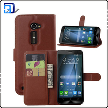 High quality pu leather phone case with wallet card holder phone cover for asus zenfone 2