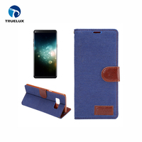 Jeans Denim Pocket Cloth PU Leather Stand Wallet Flip Case for Samsung Galaxy Note 8.0 N5100
