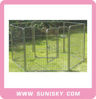Strong steel tube dog exercise fence