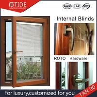 Aluminum wood clad glass picture windows Commercial System Thermal Break window and door