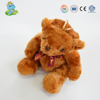 ICTI wholesale cute mini baby care plush teddy bear toy