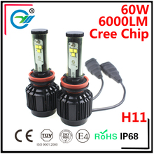 60W Car Led Bulb CR EE Led H7 HB3 HB4 H11 Led Headlight for Toyota