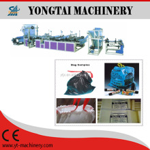 Automatic Ribbon Through Continous Rolled Garbage Bag Making Machine