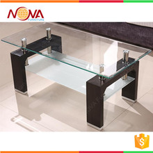 Hot sale wholesale used cheap modern glass top office tea table design