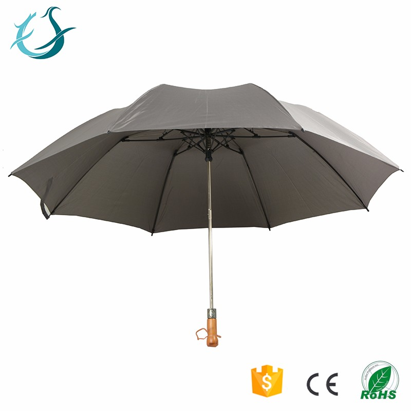 Ultra-lite unique design gray 27 inch * 8 ribs fold umbrella